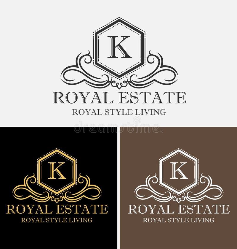 Logo royal de Real Estate images stock