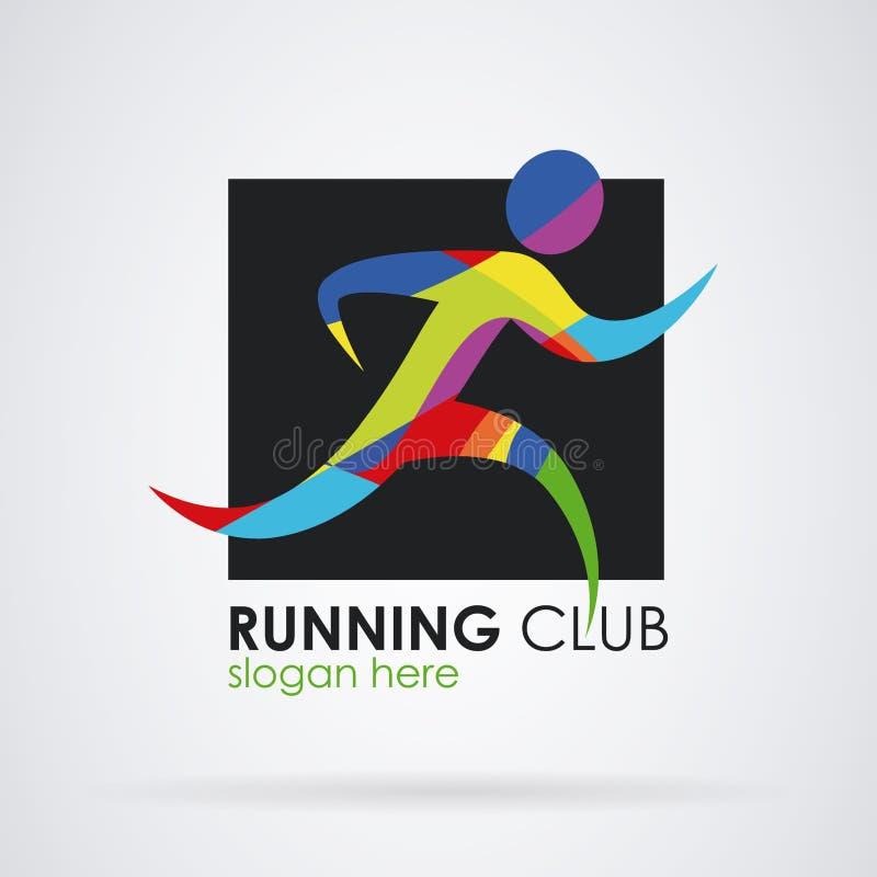 Logo running fitness sport royalty free illustration