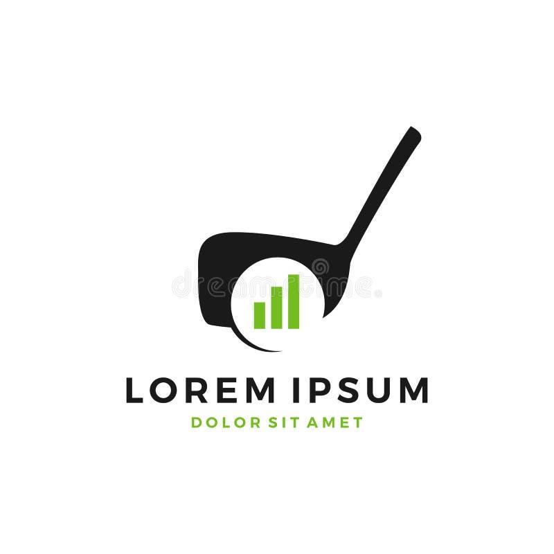 logo s'exerçant de barre de diagramme de développement de terrain de golf photo stock