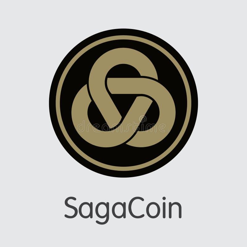 Logo Sagacoin - Blockchain Cryptocurrency stock abbildung
