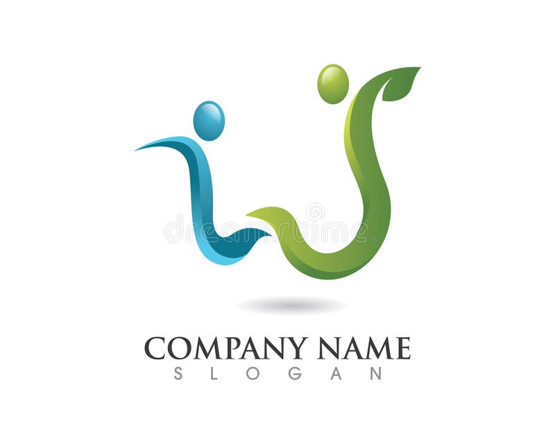 Logo sain de durée photo stock