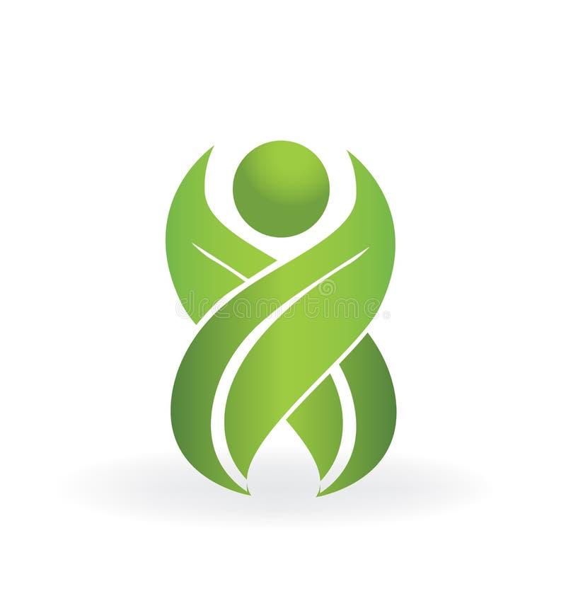 Logo sain de la vie de nature illustration de vecteur