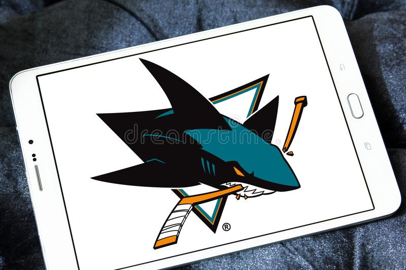 San Jose Sharks Ice Hockey Team Logo Editorial Photo Image Of
