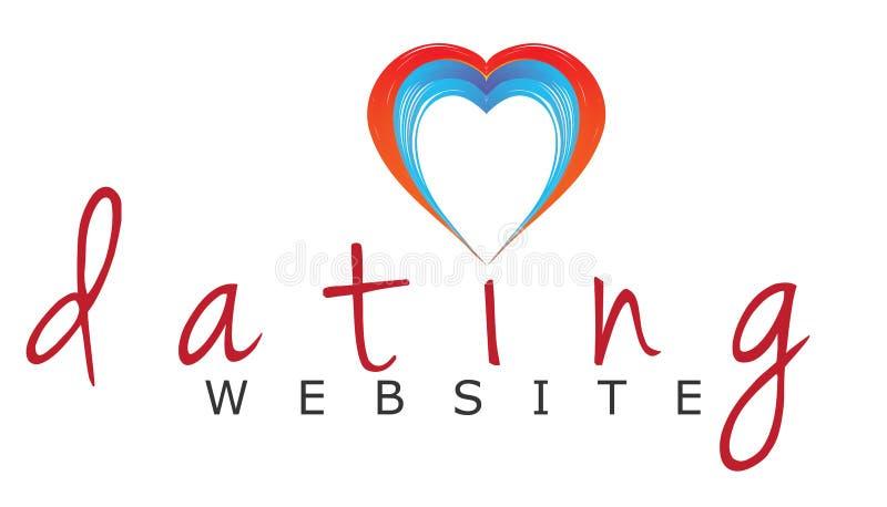 Logo scritto a mano del sito Web di datazione royalty illustrazione gratis