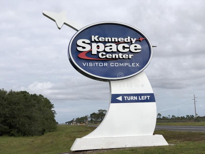 Logo/segno della NASA a Kennedy Space Center immagini stock