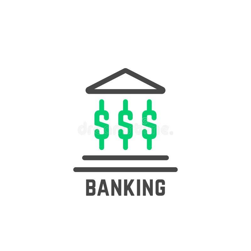 Logo semplice di attività bancarie con costruzione astratta illustrazione vettoriale