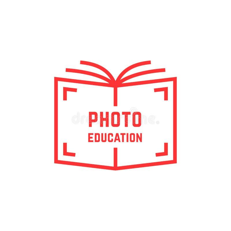 Logo semplice di istruzione della foto illustrazione vettoriale