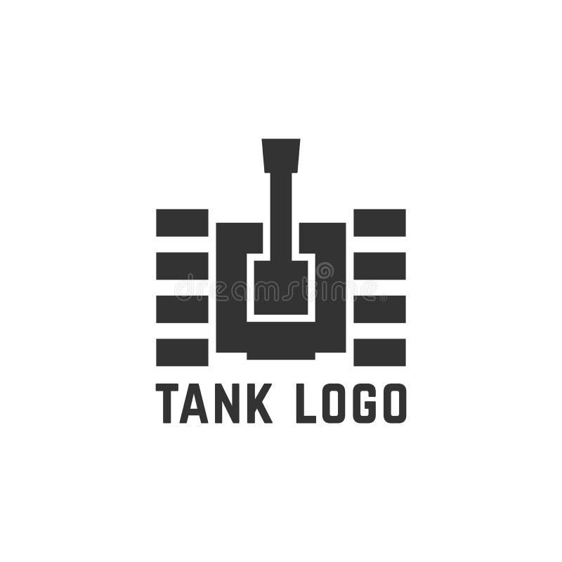 Logo semplice nero del carro armato illustrazione vettoriale