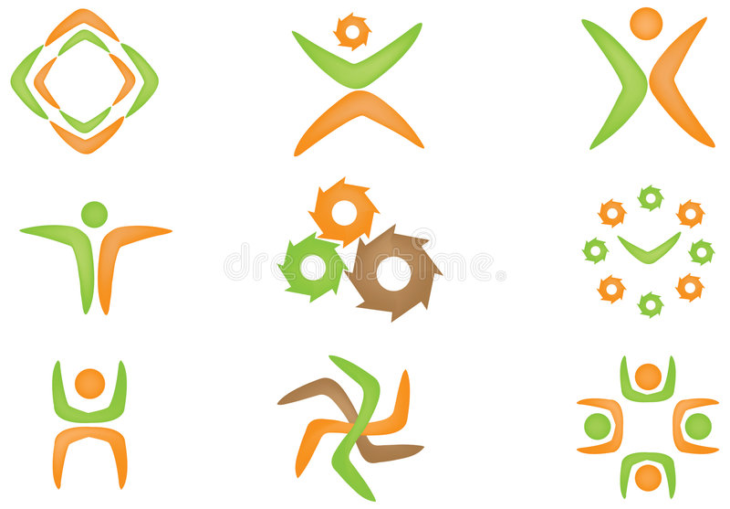 Download Logo set stock vector. Illustration of game, athletics - 8188354