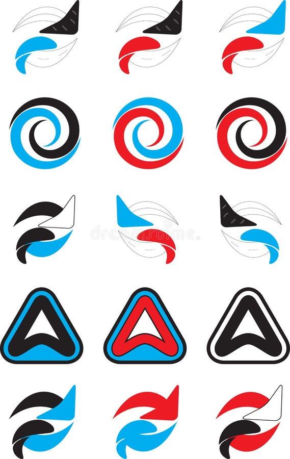 Logo set abstract unusual icon stock illustration