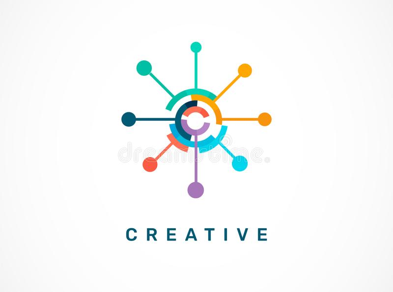 Logo - creative, technology, tech icon and symbol royalty free illustration