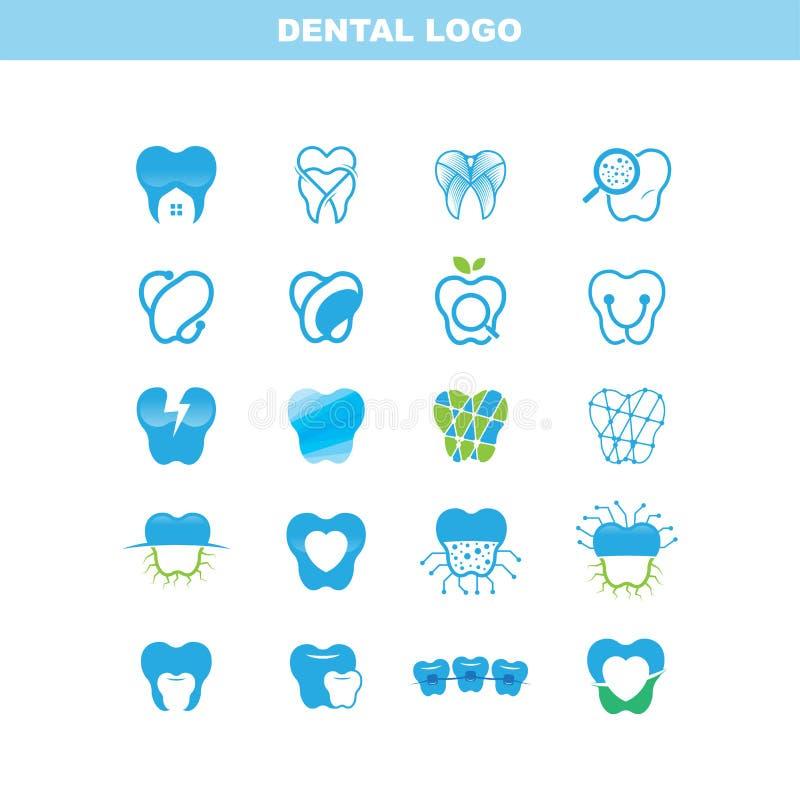 Logo Set dentario, ENV 10 fotografia stock libera da diritti