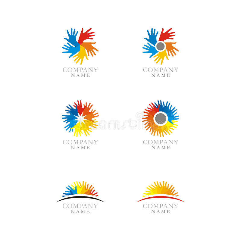 Download Hands Logo Set Icon stock vector. Image of brand, gray - 21081029