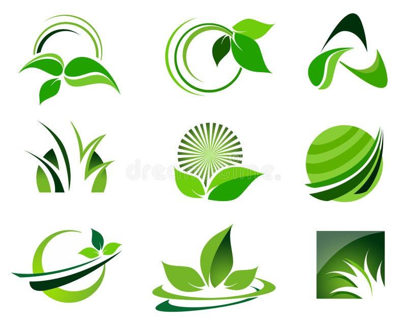 Logo Set verde ilustração royalty free