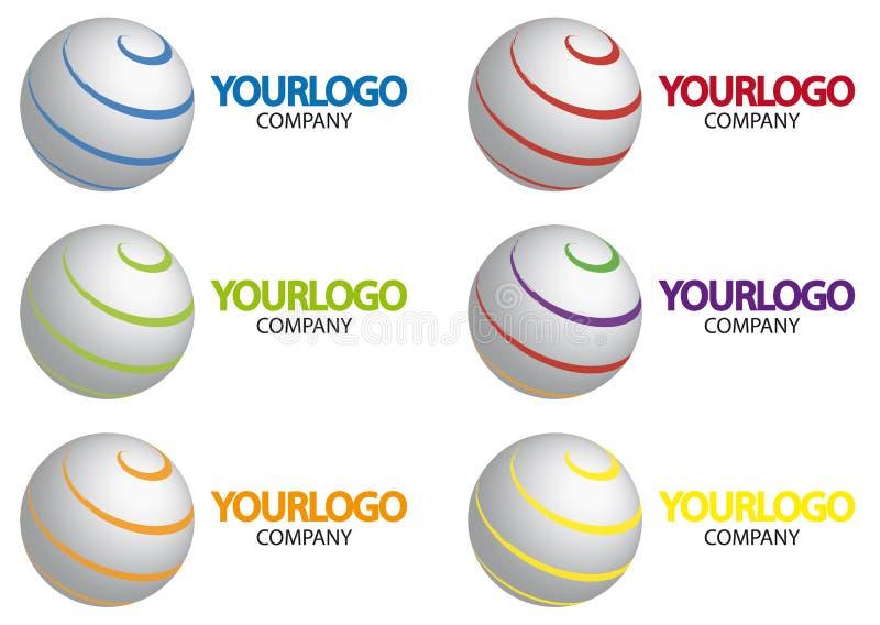 logo sfera royalty ilustracja