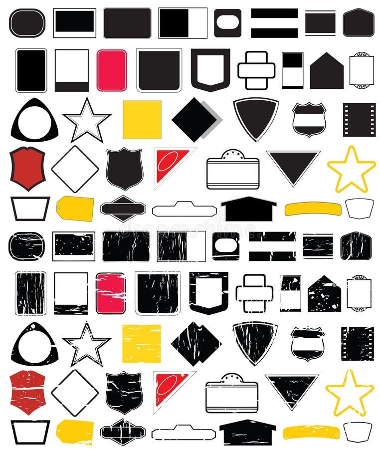 Logo shape designs No.2 stock photo