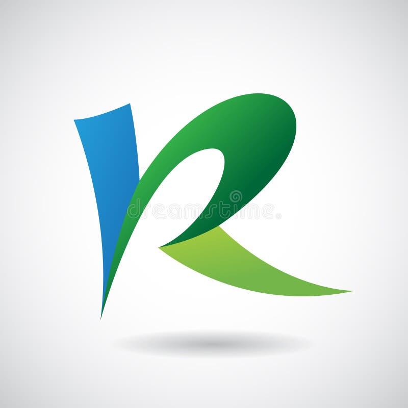 Logo Shape e ícone da letra R, ilustração do vetor ilustração do vetor