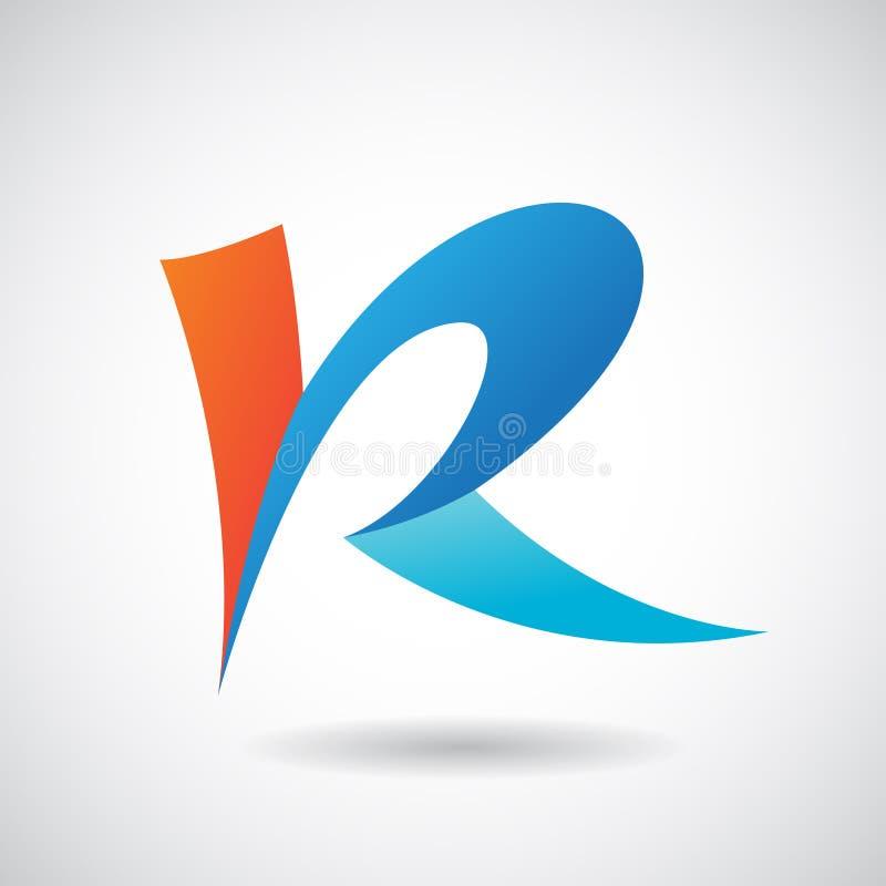 Logo Shape e ícone da letra R, ilustração do vetor ilustração stock