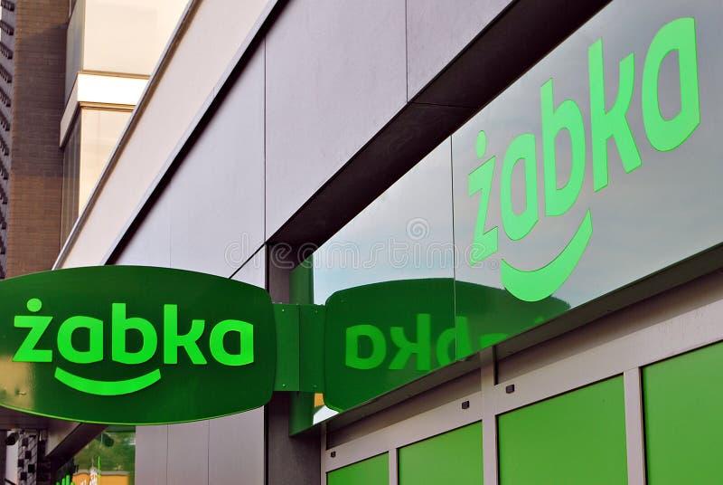 Logo sign of a Zabka grocery store royalty free stock photography