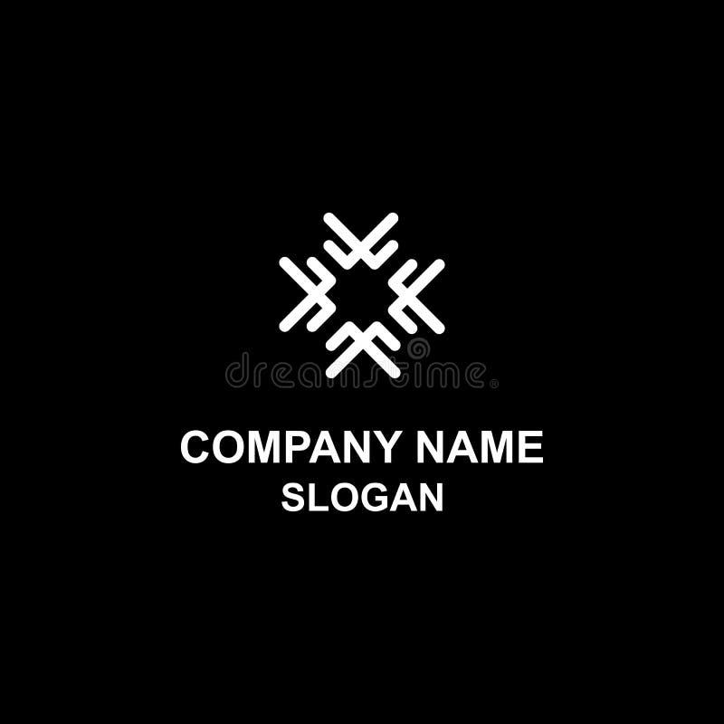 Logo simmetrico unico dell'estratto illustrazione di stock