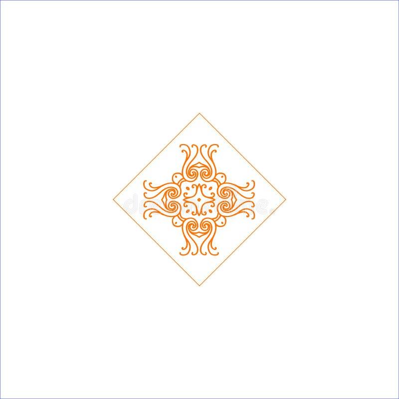 Logo simple avec le symbole bouclé abstrait pour le studio de yoga ou l'instructeur de yoga Société Logo Design Vecteur images libres de droits