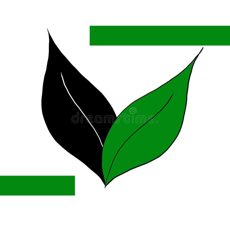 Logo simple d'eco avec le vert illustration libre de droits