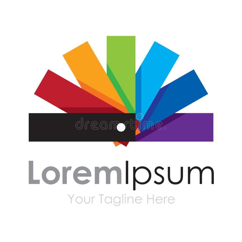 Logo simple d'icône d'affaires de roue mignonne de spectre de palette de couleurs illustration stock