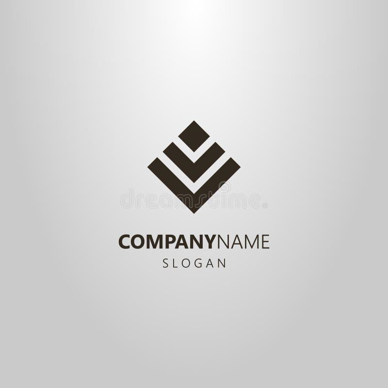 Logo simple de vecteur d'un chiffre abstrait des places illustration libre de droits