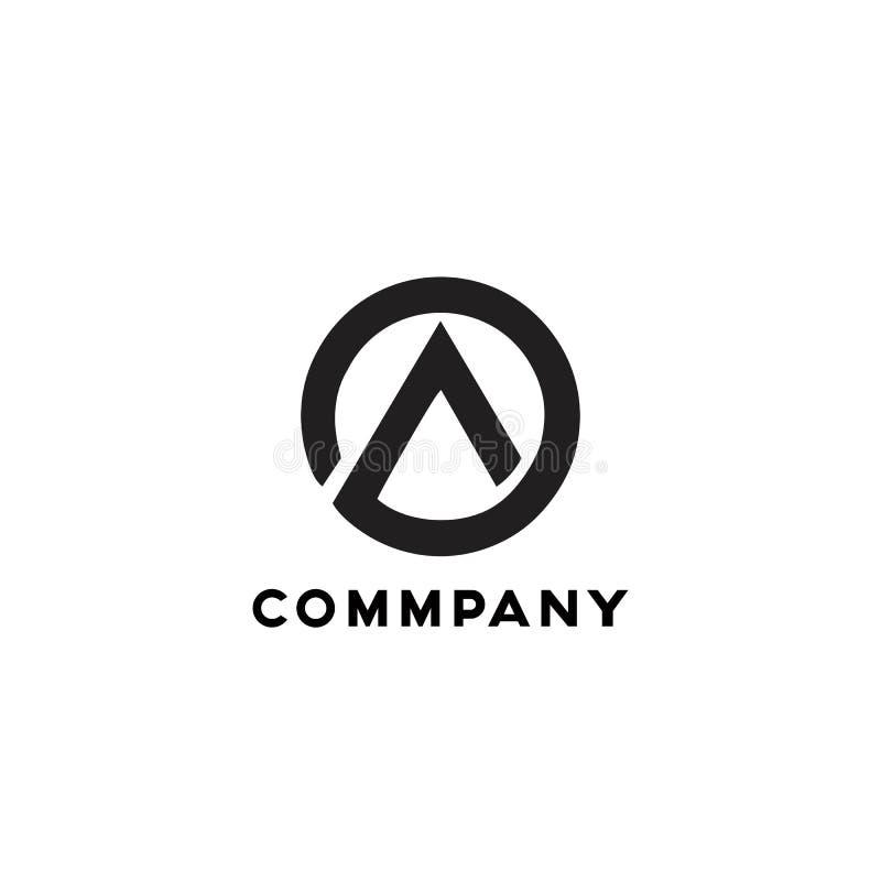 A logo simple minimalist black modern company 皇族释放例证