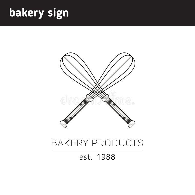 Logo simple pour une boulangerie ou une confiserie, comme entre croisé illustration stock