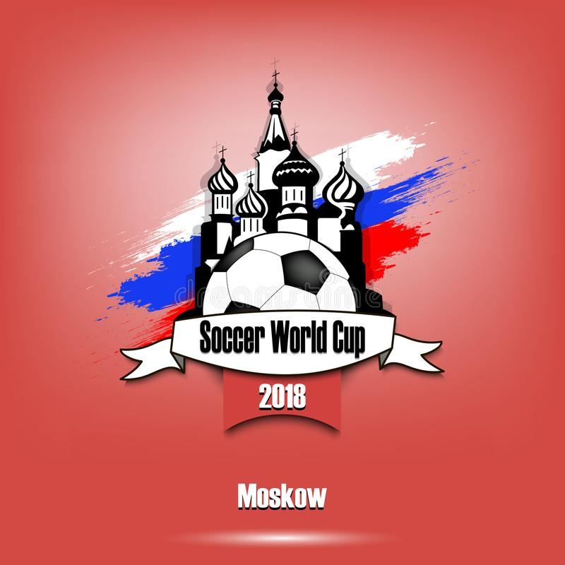 Logo Soccer turnering 2018 vektor illustrationer