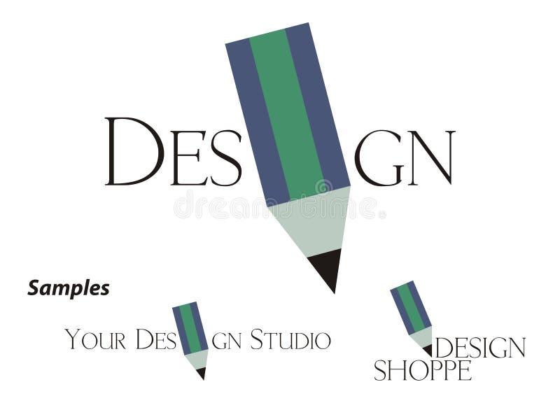 Logo - société de conception illustration de vecteur