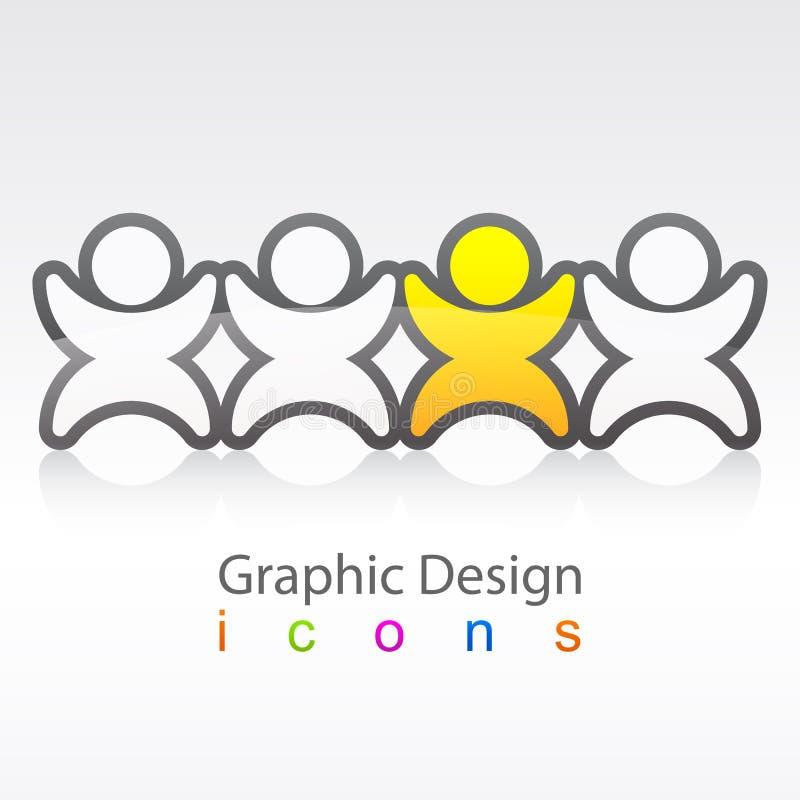 Logo social d'Iinnovation de conception graphique illustration stock