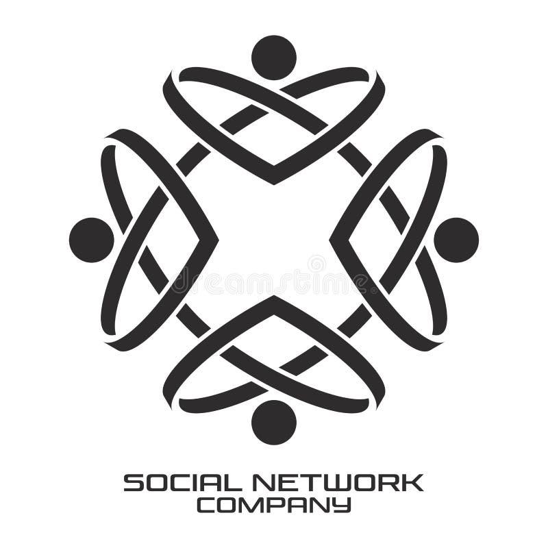 Logo social de réseau Illustration de vecteur illustration stock