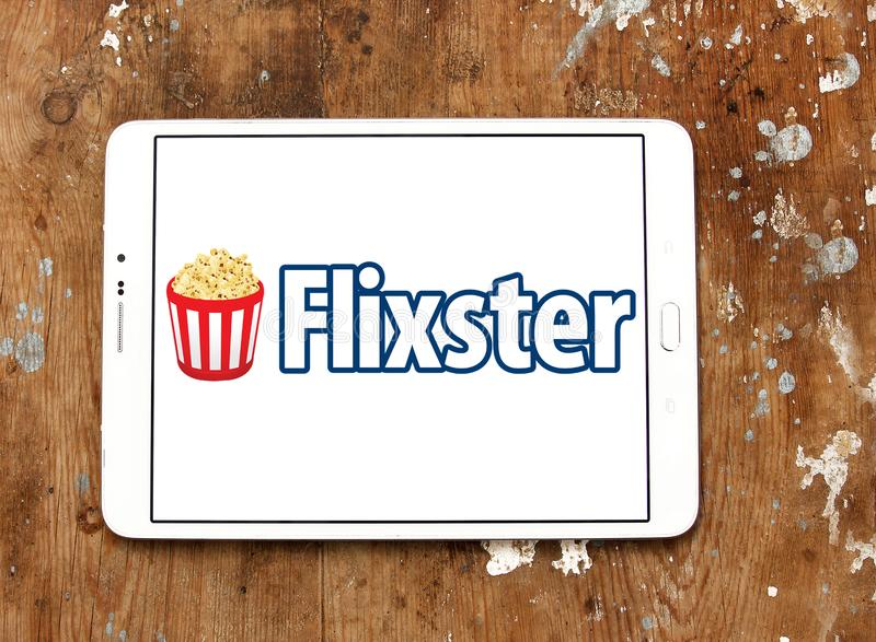 Logo social de site de film de Flixster images stock