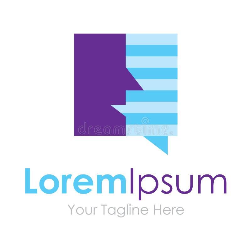 Logo social humain d'icône d'élément de conversation de réseau de media pour des affaires illustration de vecteur