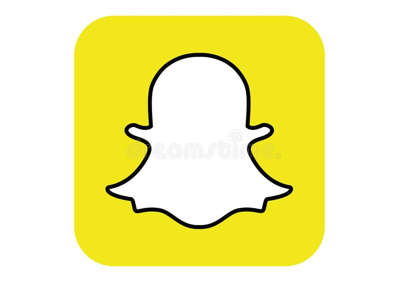 Logo of the social network Snapchat stock photography