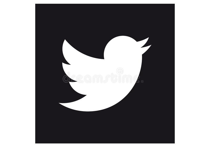 Logo of the social network Twitter royalty free stock photo