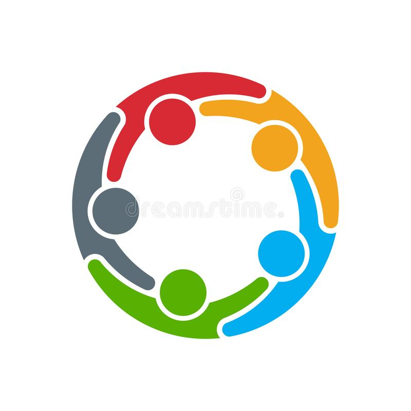 Logo sociale della rete di media Illustrazione di vettore royalty illustrazione gratis