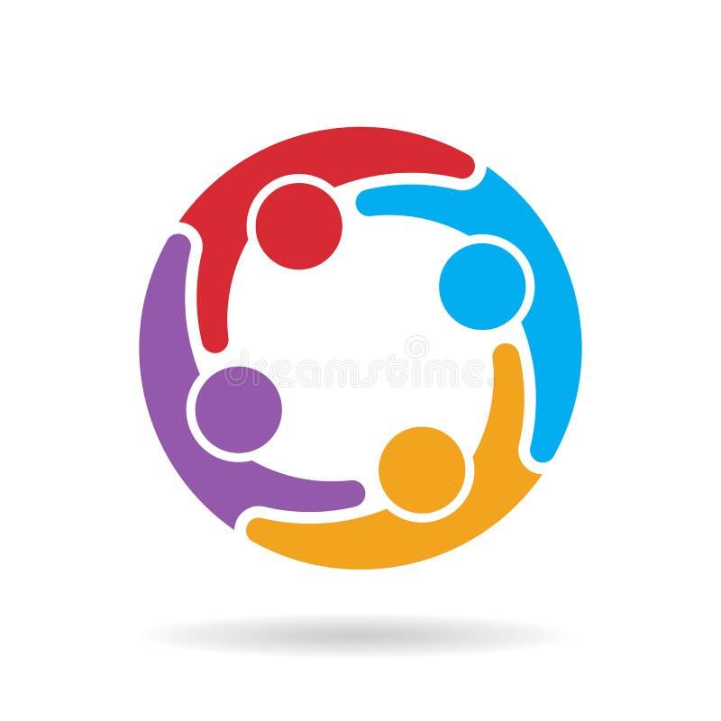 Logo sociale della rete di media Illustrazione di vettore illustrazione di stock