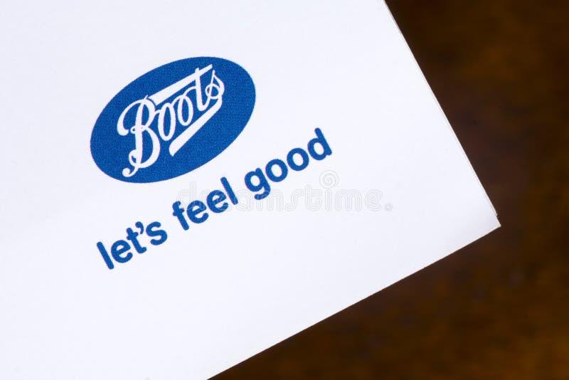 Logo società Boots fotografia stock libera da diritti