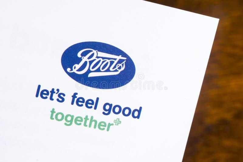 Logo società Boots immagine stock libera da diritti