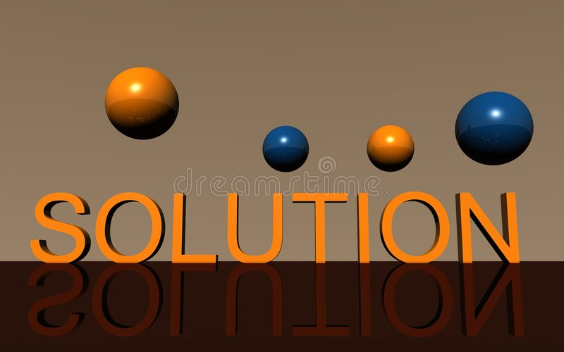 Logo Solution Royalty Free Stock Images