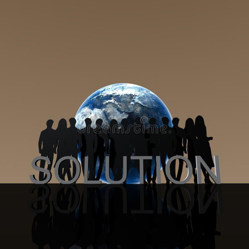 Logo Solution vector illustration