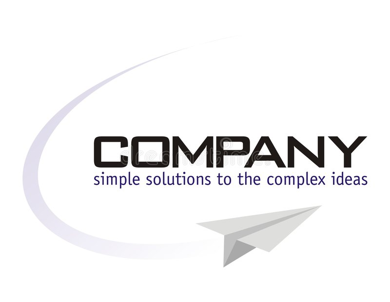 Logo - Solution Provider. Logo - for Solution Provider Company with slogan 'Simple Solution for the complex ideas' / Aviation Training vector illustration