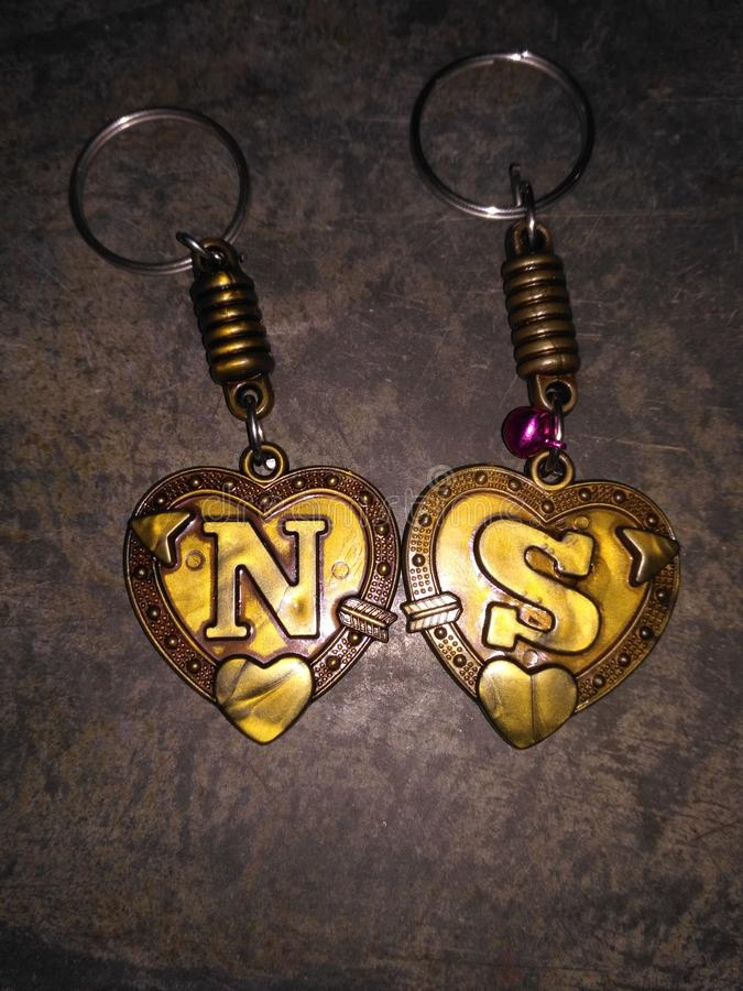 Logo som är par N S royaltyfri bild