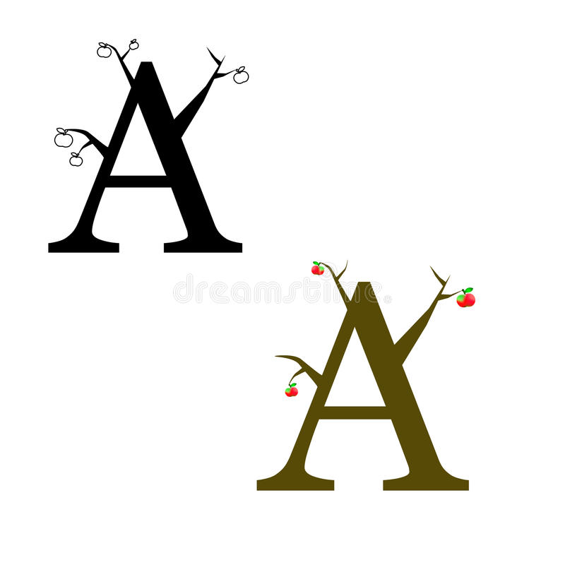Logo sotto forma di ` del ` A della lettera fotografia stock