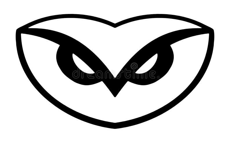 logo sowa ilustracji