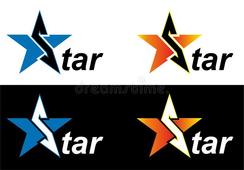 Logo star stock illustration