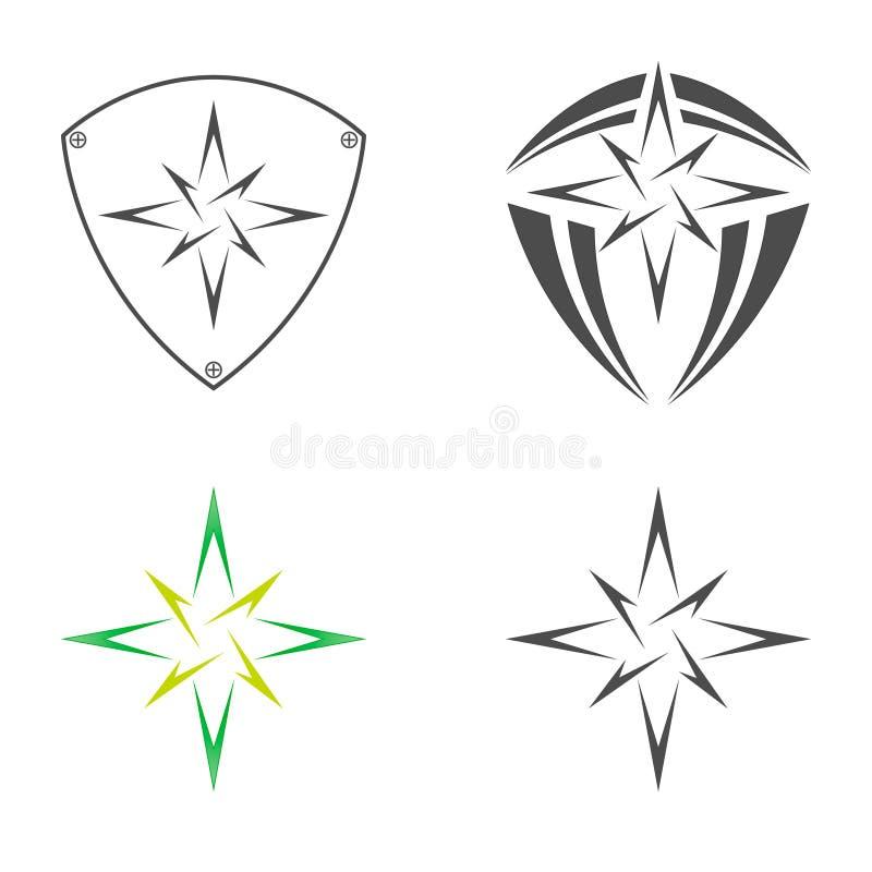Logo star of Bethlehem. On a white background vector illustration